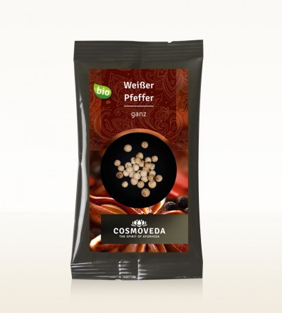 Organic Pepper white whole 10g