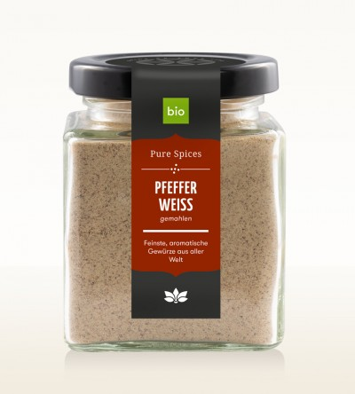 Organic Pepper white ground glass 100g