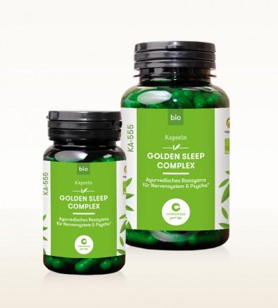 Organic Ayus Rasayana Capsules - Golden Sleep Complex