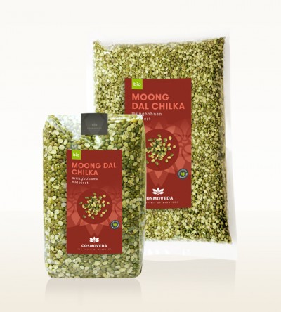 Organic Moong Dal Chilka - moong beans, split