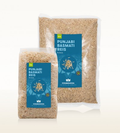 Organic Punjabi Basmati Rice brown