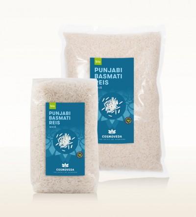 Organic Punjabi Basmati Rice white