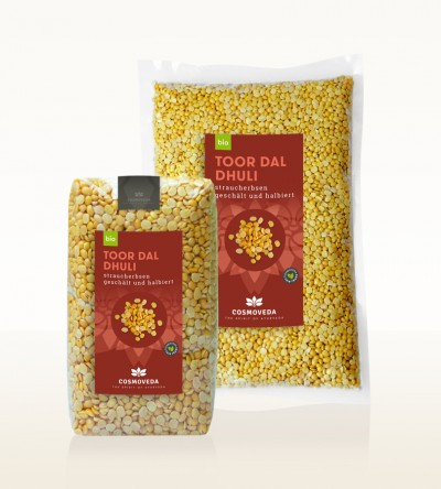 Organic Toor Dal Dhuli - pigeon peas, peeled and split