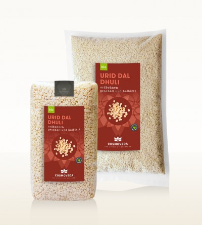 Organic Urid Dal Dhuli - white lentils, peeled and split