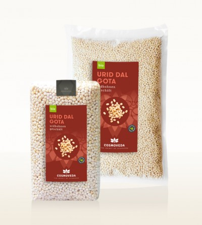 Organic Urid Dal Gota - urid beans, whole, peeled